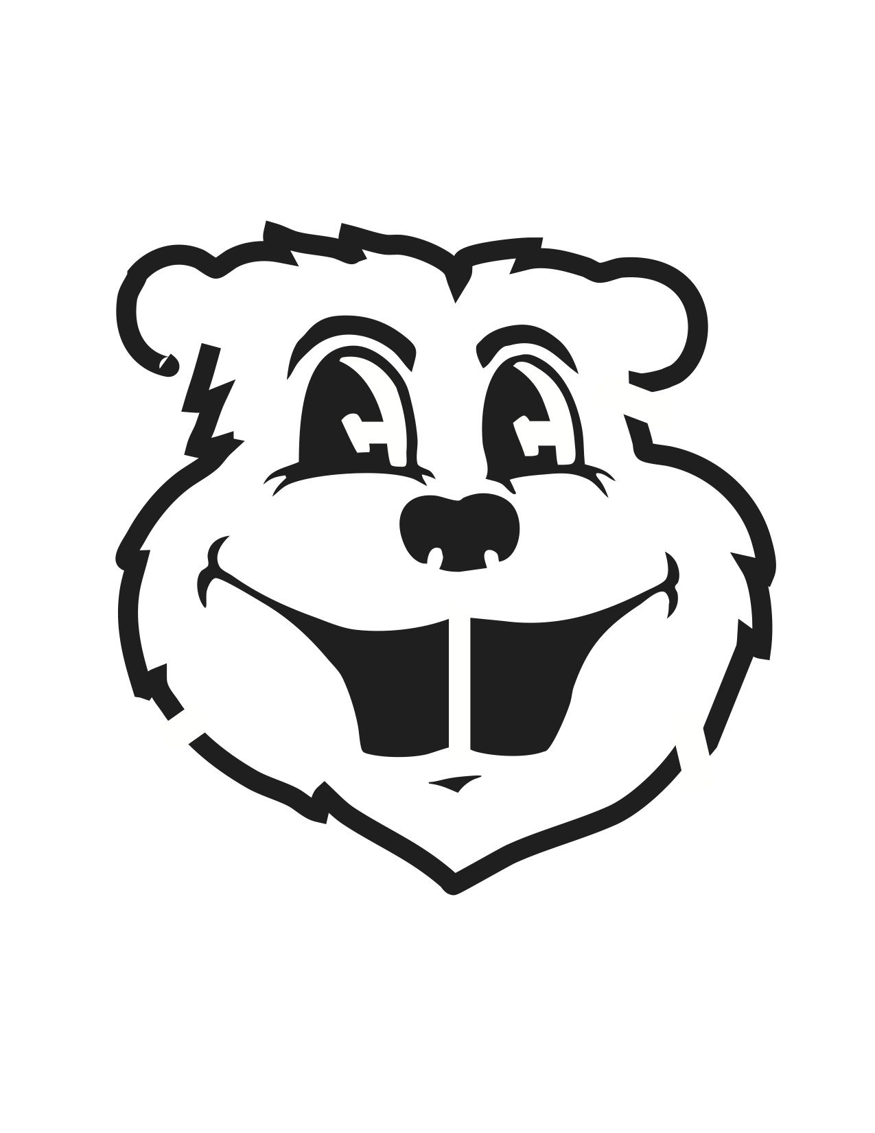 Goldy Gopher Pumpkin Carving Stencil