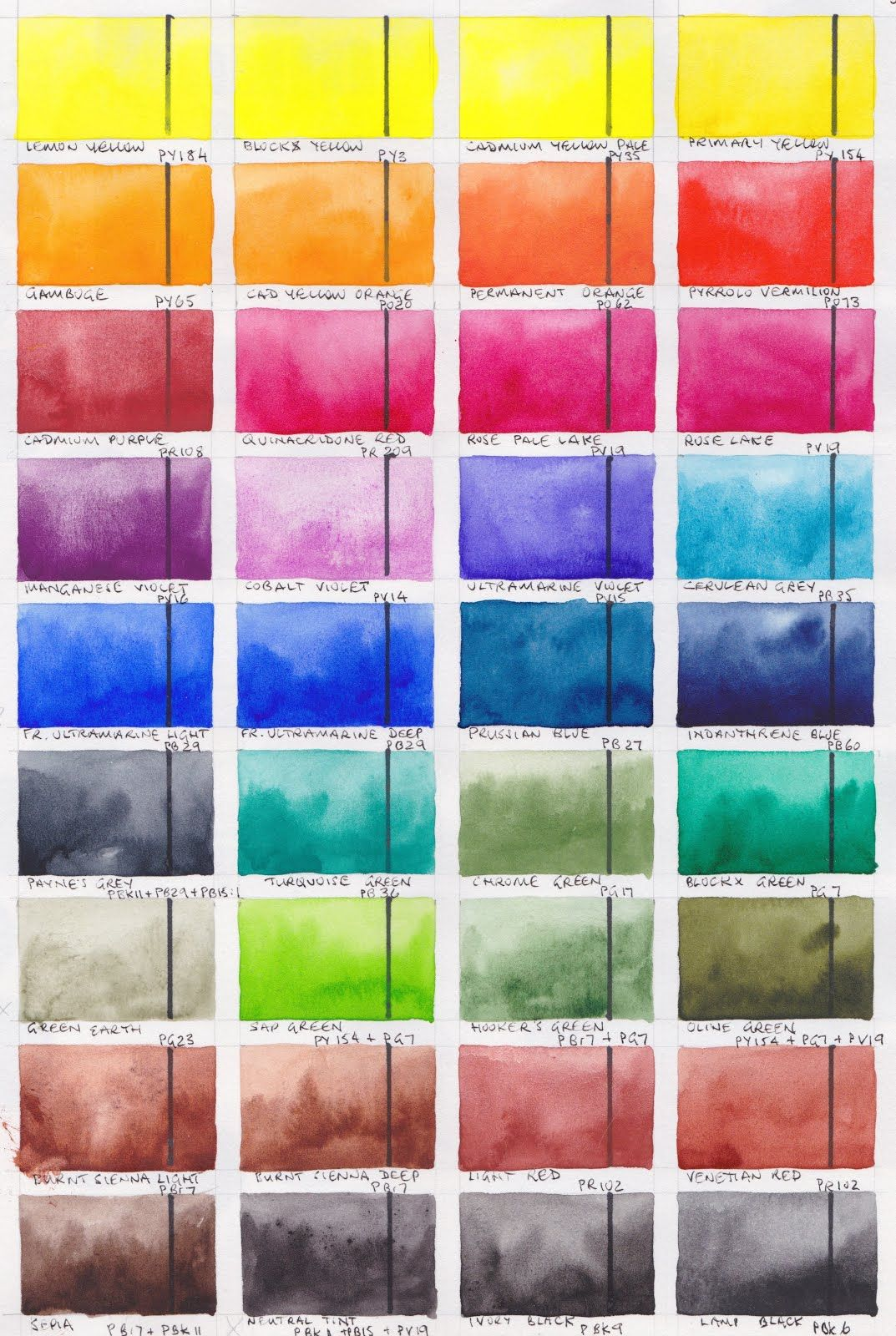 Blockx Watercolours Full Range
