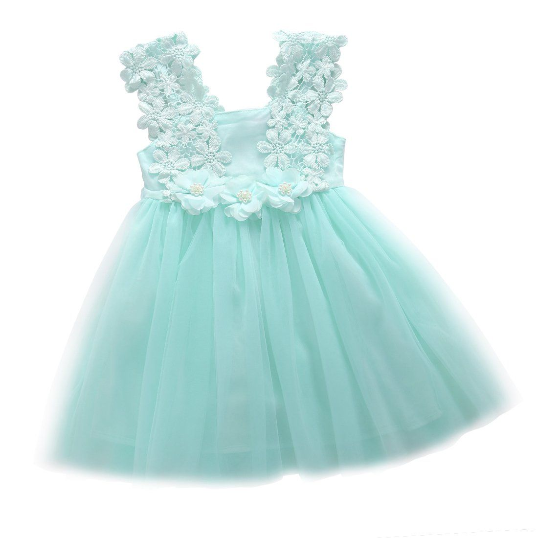 Elegant Feast Baby Girls Princess Lace Flower Tulle Tutu Gown ...