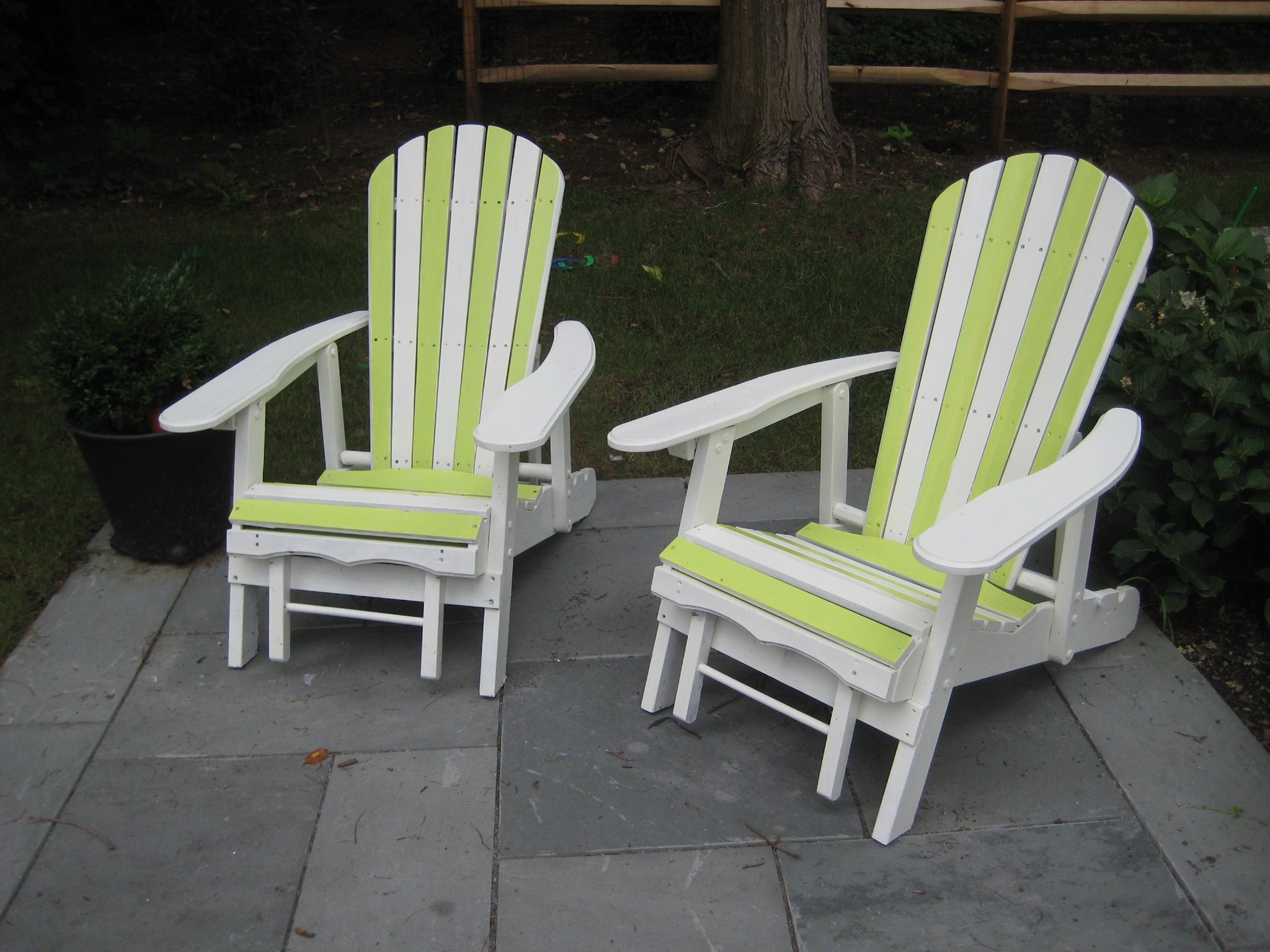 Bummer Adirondack Chairs Painted Outdoor Furniture Plans