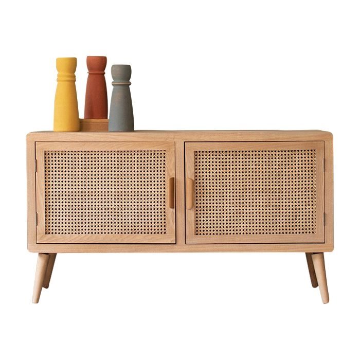 Unique Mid Century Furniture Wood And Cane Doors Tv Cabinet Tv Cabinets Wood Tv Cabinet Mid Century Tv Console