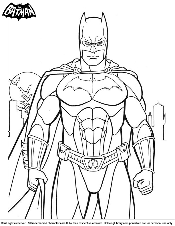 Batman Coloring For Boys