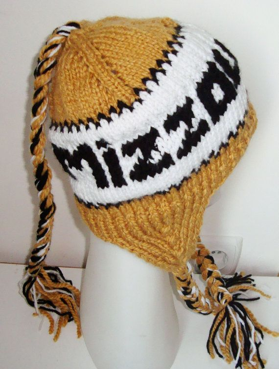 6d65e0153c5 Personalized Gift for Women - Mizzou Tigers Knit Winter Hat - Custom ...