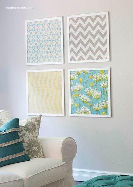 Quadros de tecido Pinterest