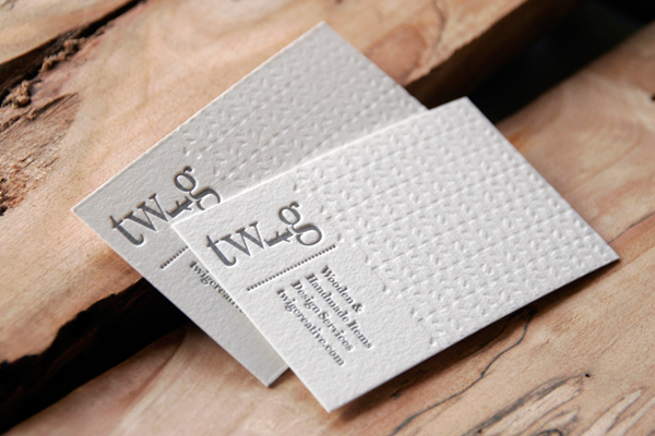 Lovely Logo Combined With Letterpress This Gorgeous Biz Card