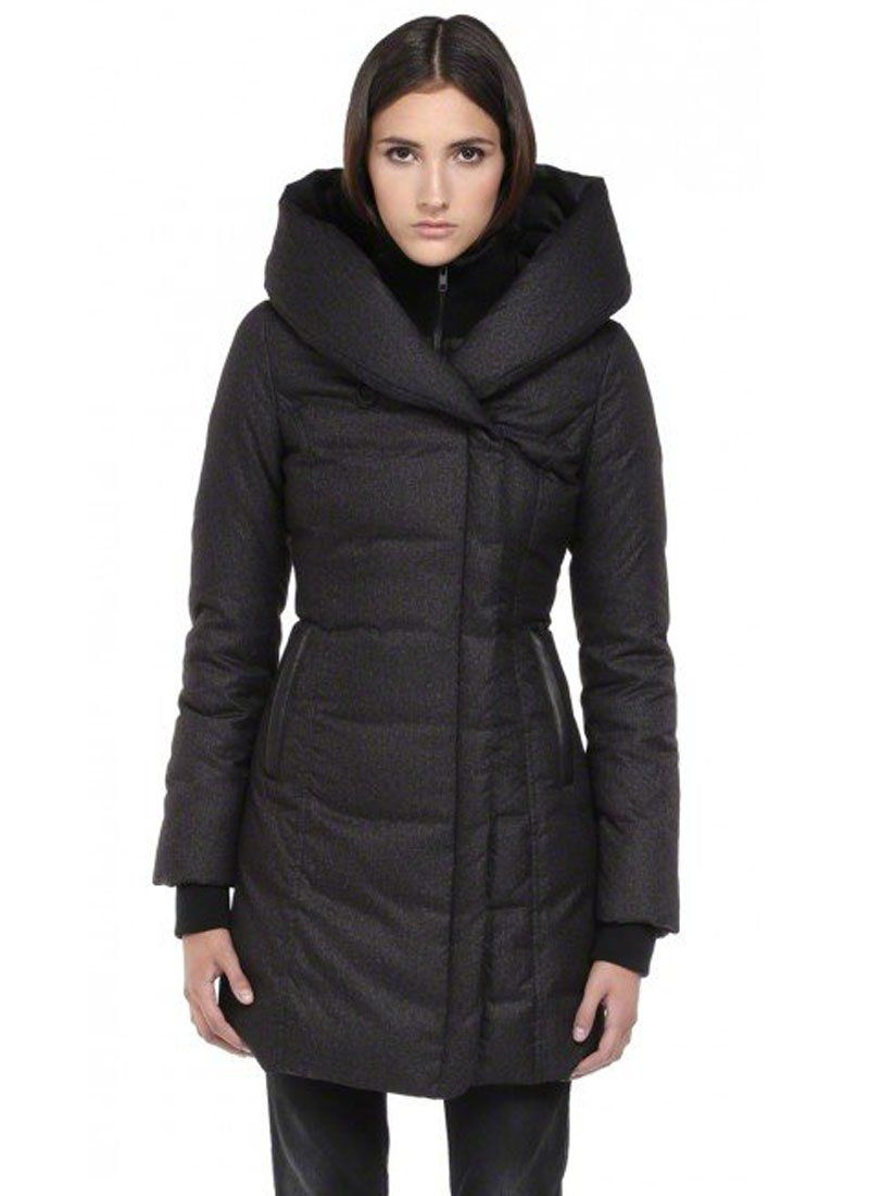 ace64123cf887 Soia & Kyo Women's Camyl Winter Down Coat with Large Hood (Large, Black)