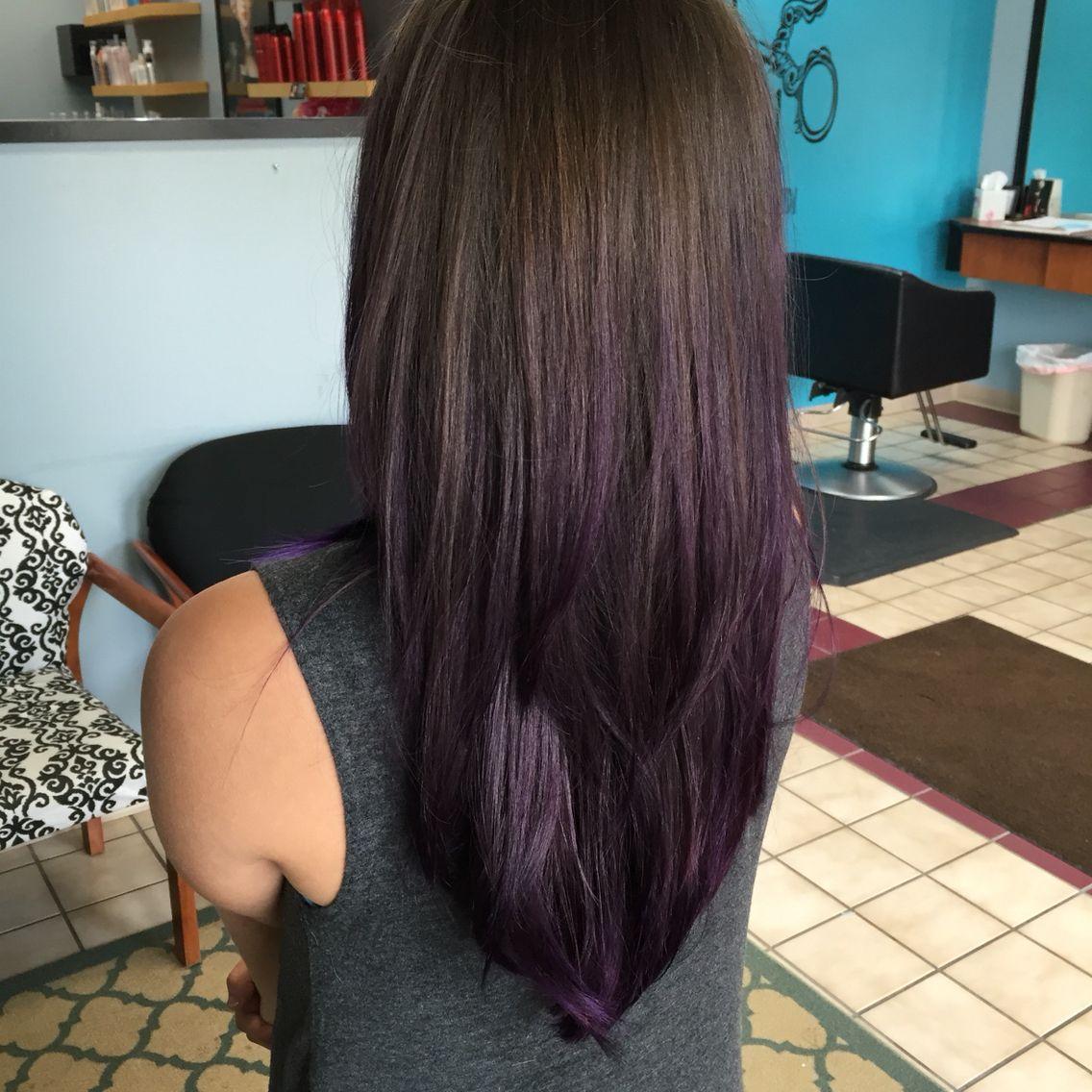Purple Dye On Medium Brown Hair No Bleach I Would Love This Over All The Hair Brown Hair Dye Bleached Hair Medium Brown Hair