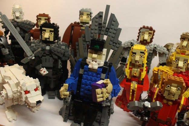 GRRM With a few characters. | Lego | Pinterest | Iron throne, Lego ...