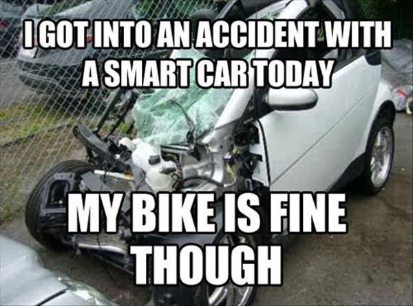 77 Smart Car Vs Bike This Is Great Funny Accidents Funny
