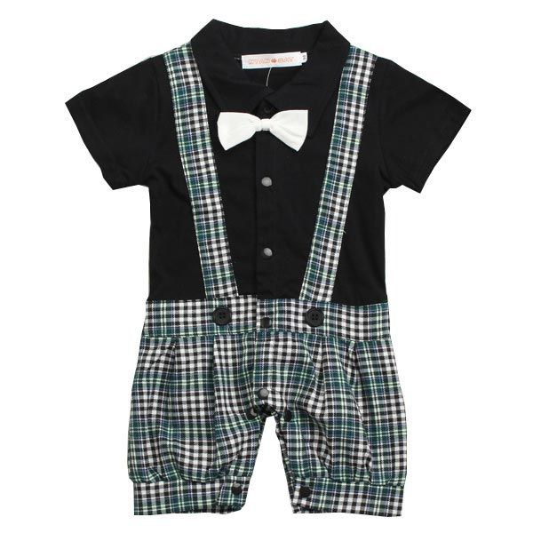 Baby Boy Kids Bowknot Gentleman Romper Jumpsuit Clothing Set