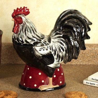 Country Rooster Cookie Jar Cookie Jars Vintage Rooster Kitchen Decor Country Rooster