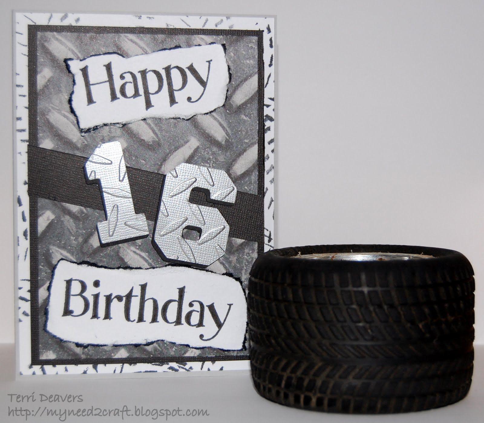 Myneed2craft My Nephew S 16th Birthday Card 16th Birthday Card Happy 16th Birthday 16th Birthday Gifts