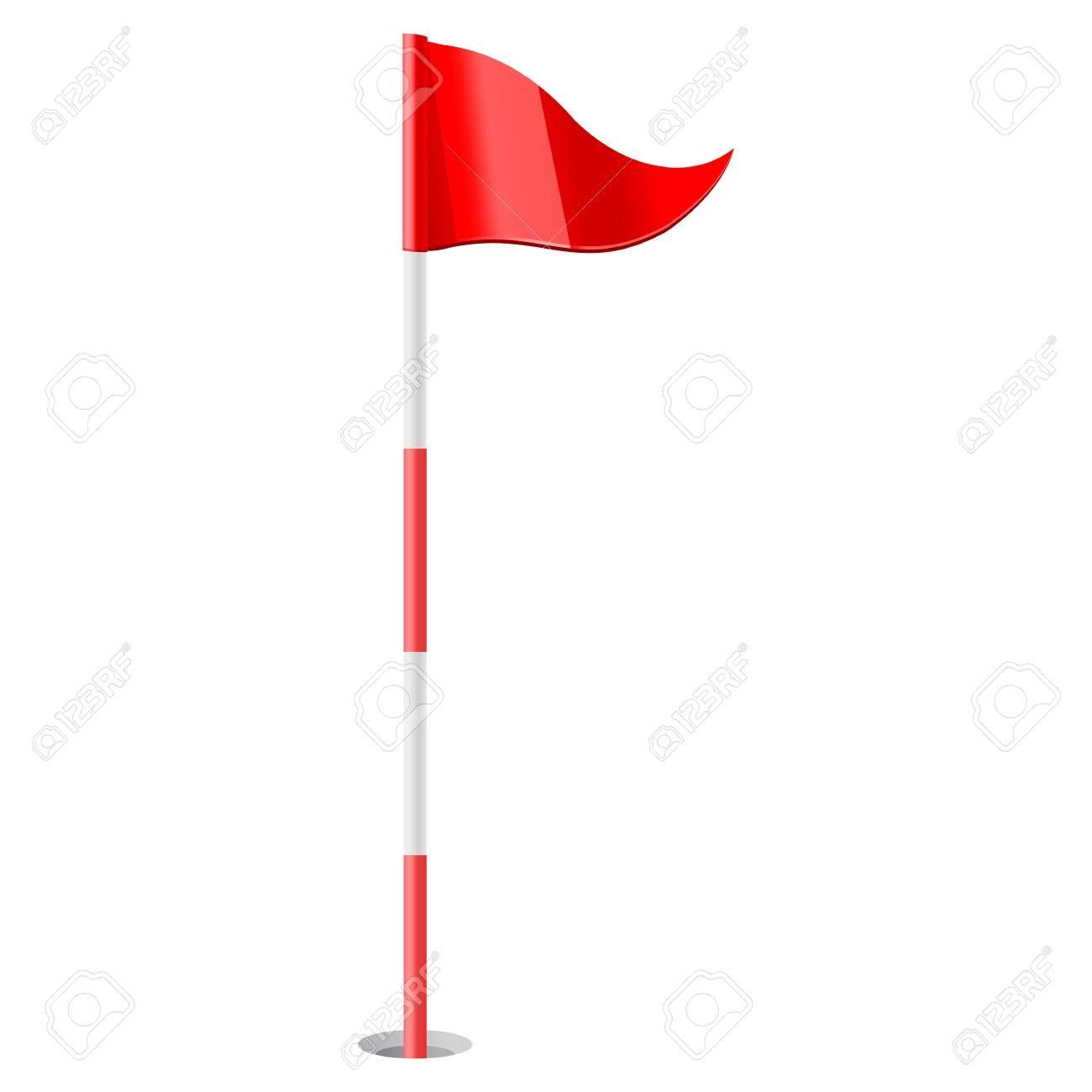 Vector Illustration Of Red Golf Flag Aff Illustration Vector Red Flag Golf Golf Flag Vector Illustration Illustration