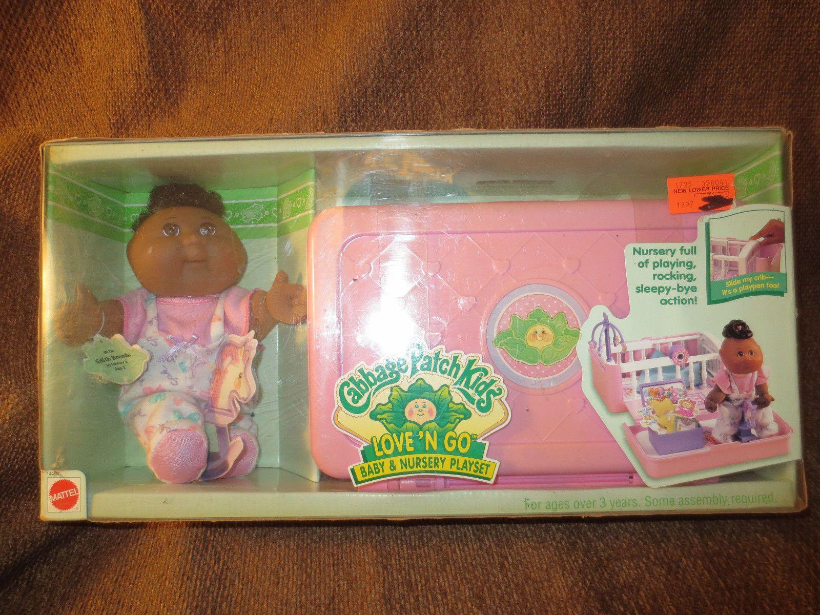 Cabbage Patch Kids Love N Go Baby Nursery Playset 1995 Doll Nib Ebay Cabbage Patch Kids Baby Nursery Playset