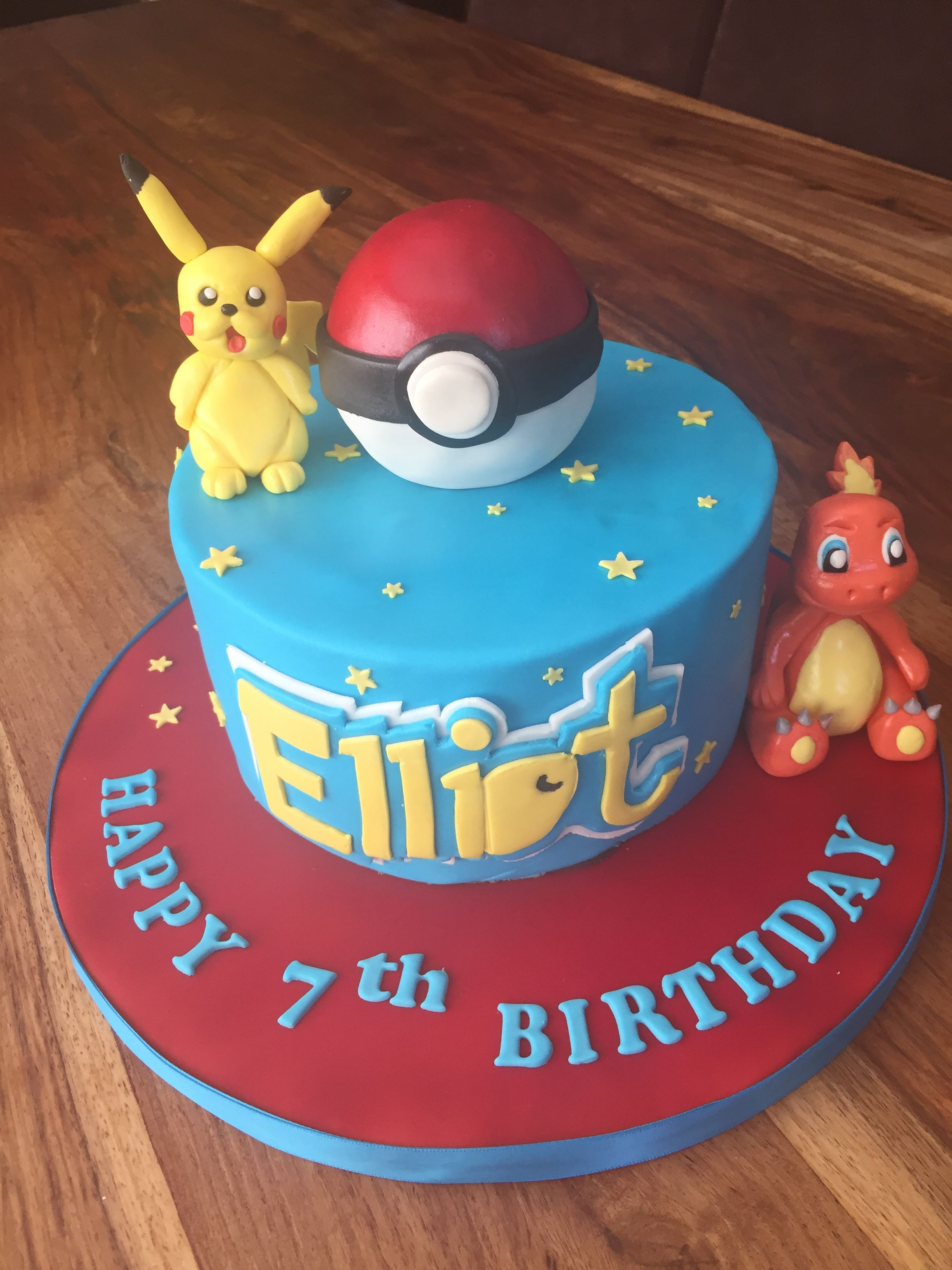 Outstanding Pikachu Charmander And Pokeball Pokemon Cake Cake Birthday Funny Birthday Cards Online Alyptdamsfinfo