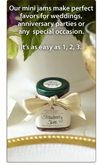 Cute Idea For Favors Mini Jam Jars With Customized Labels