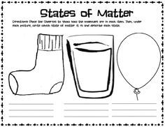 Matter Solid Liquid Gas Worksheet States Of Matter Second Grade