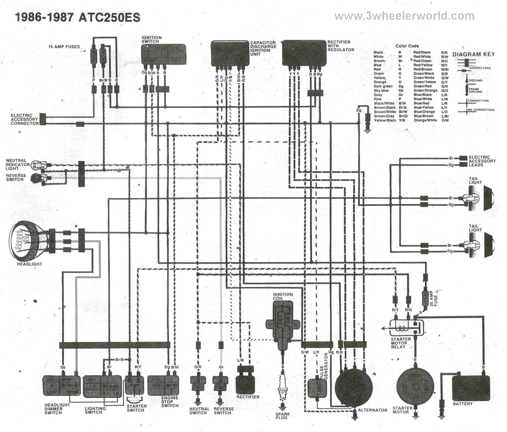 Honda 300 Fourtrax Parts Diagram Honda Foreman 500 Wiring Diagram Diagram