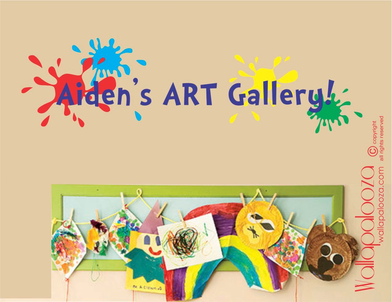 Children\'s Art Display Decal - Art Gallery decal - Masterpiece wall ...