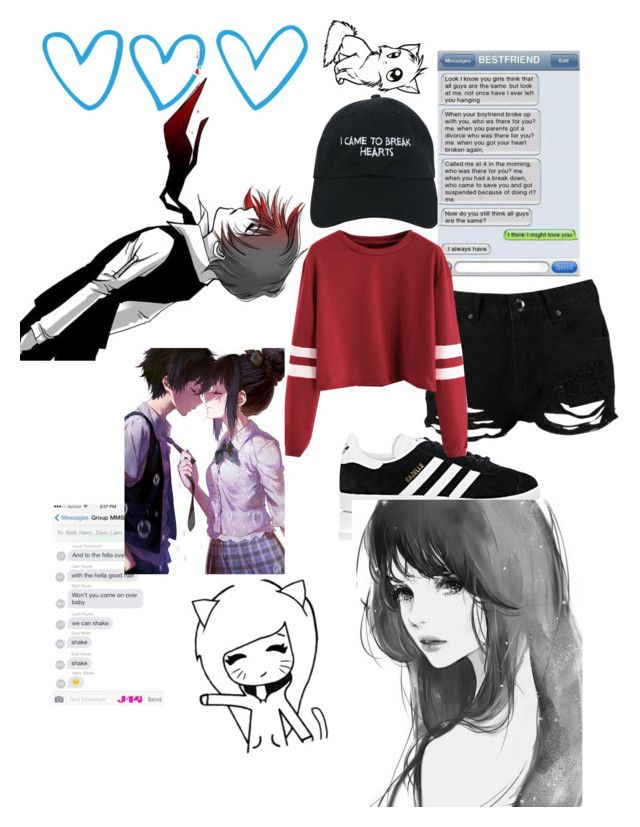 """""""!¡I came to break hearts¡!"""" by itsgracie18 ❤ liked on Polyvore featuring Nasaseasons, Boohoo and adidas"""