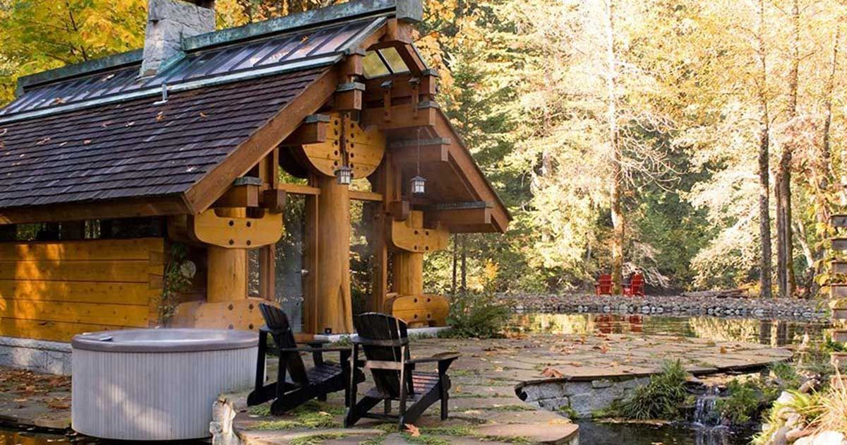 Explore the Totems log cabin – you must see the incredibly detailed architecture