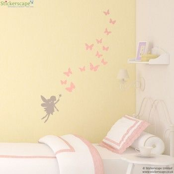 Fairy and butterfly wall stickers | Emily bedroom | Pinterest ...