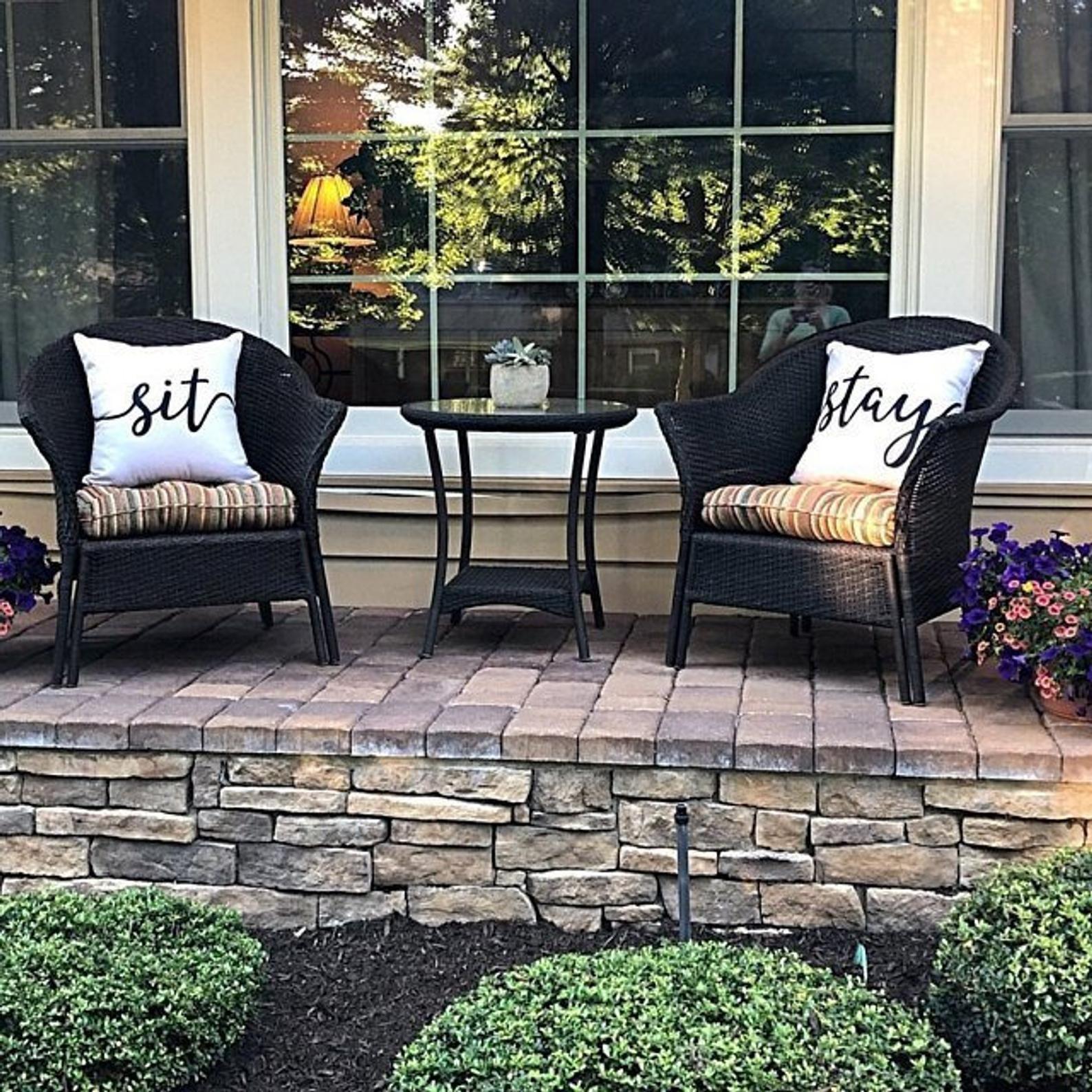 Cream sit stay pillows patio pillow porch pillow