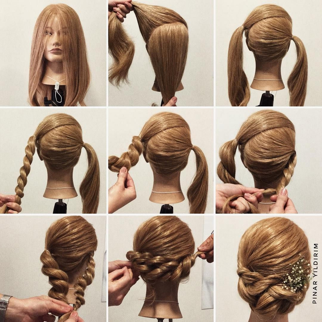 Wedding Hairstyle Step By Step: Step By Step 👣 #DIYcollage #PivotPoint #LearnForward