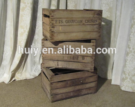 Factory Supply Handmade Wooden Crates Wholesale Wooden Crates