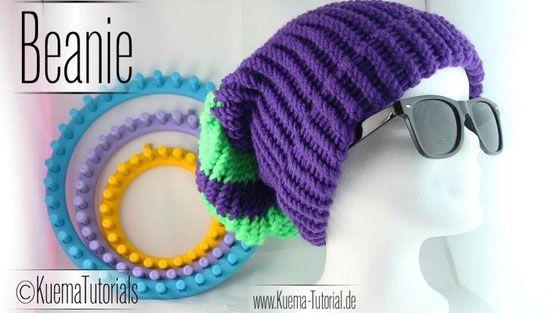 knitting loom anleitung strickring deutsch tutorial m tze beanie einfach m tze pinterest. Black Bedroom Furniture Sets. Home Design Ideas