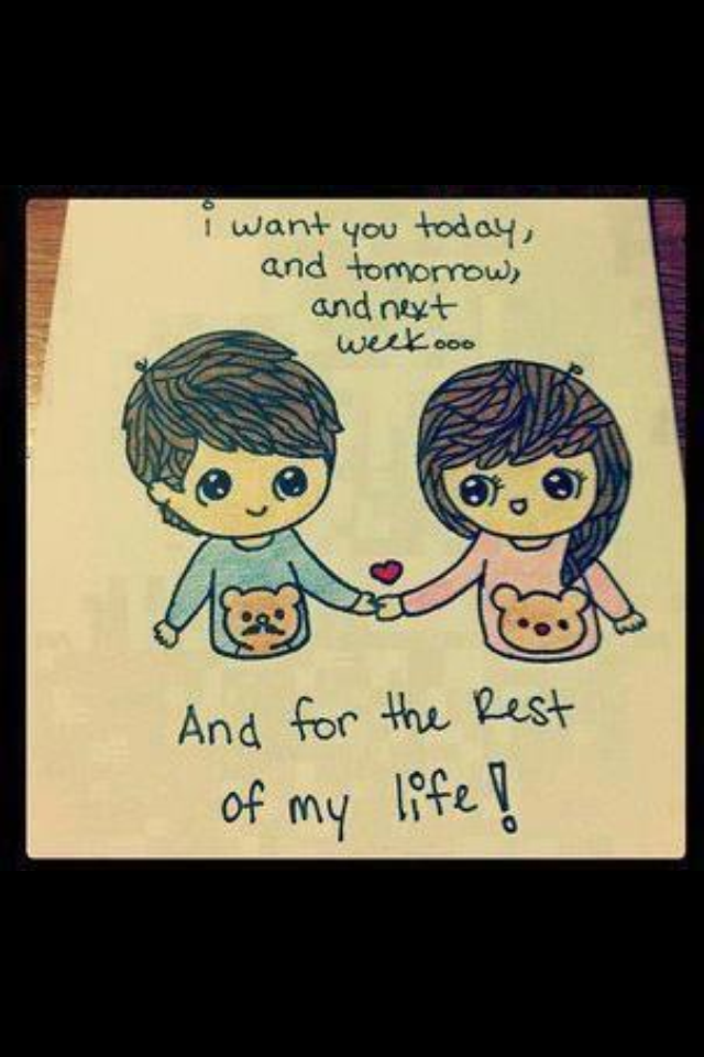 Pin By Mrsdvill On Qoutes  Cute Drawings Of Love, Cute