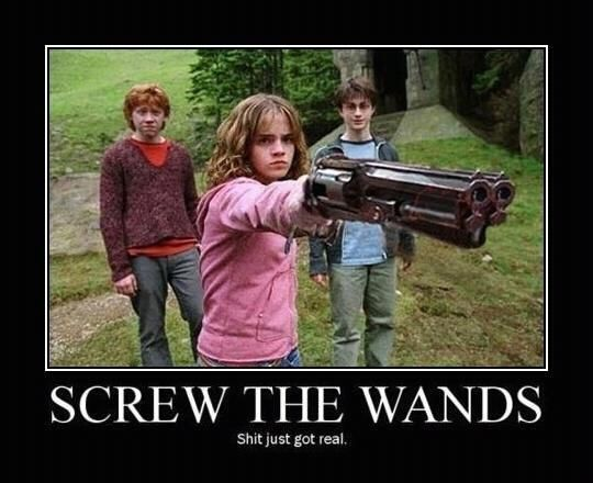 Screw the wands…shit just got real.