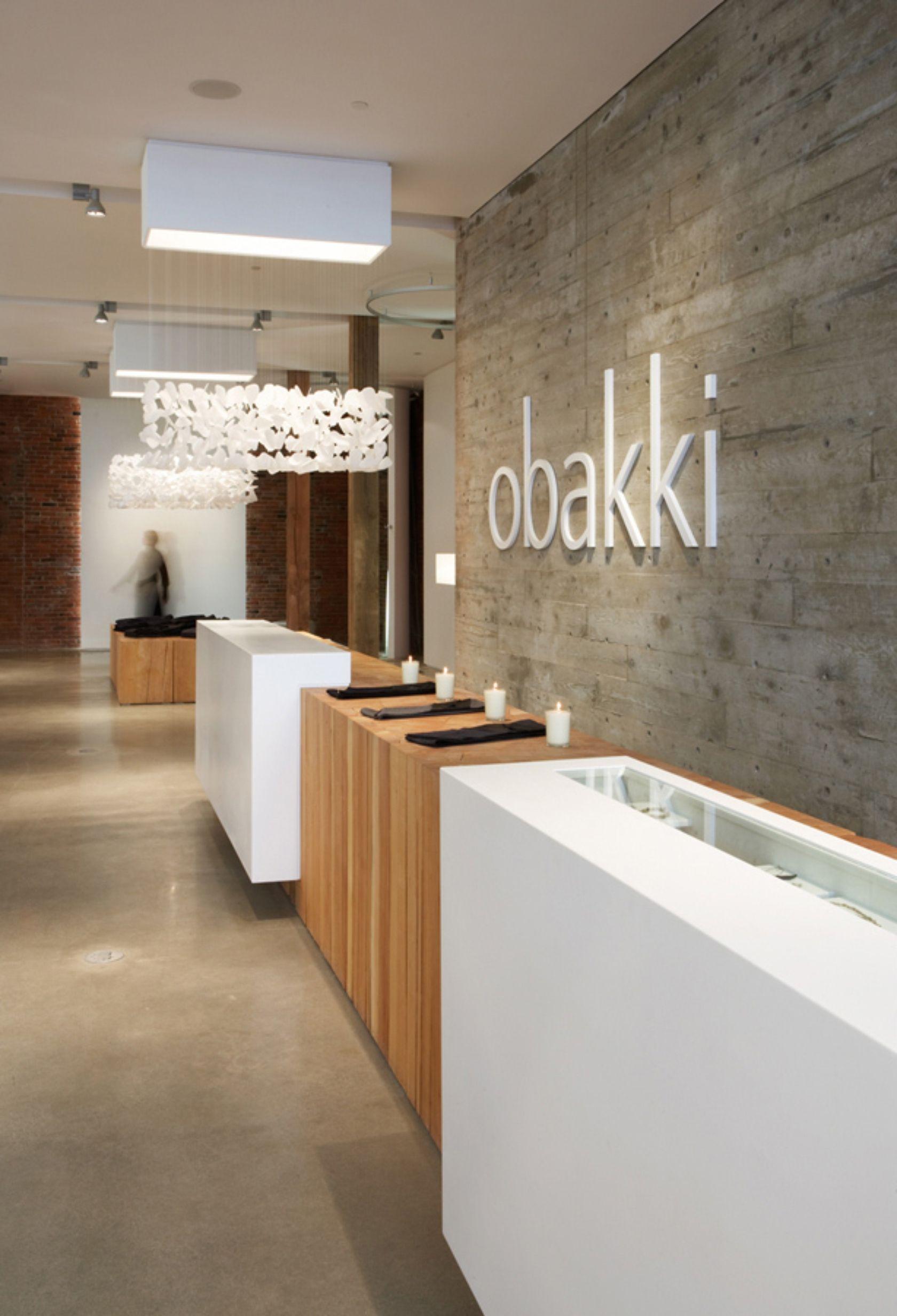 Obakki | ROBERTS | Pinterest | Mostradores, Letreros y Tienda interior