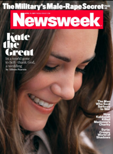 Image result for kate middleton newsweek in a world going to hell