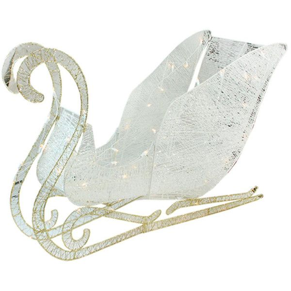 41-in. Pre-Lit Sleigh Indoor / Outdoor Christmas Decor ($150 ...