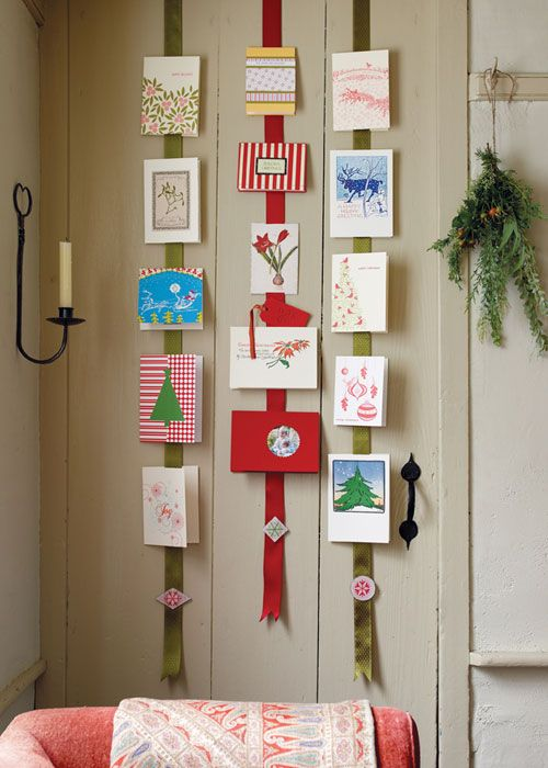 Country Decorating Ideas With Images Christmas Card Display