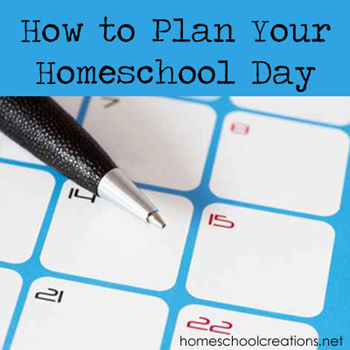 How to plan your homeschool day: tips and advice on creating a routine that works for your family and helps organize your school day.