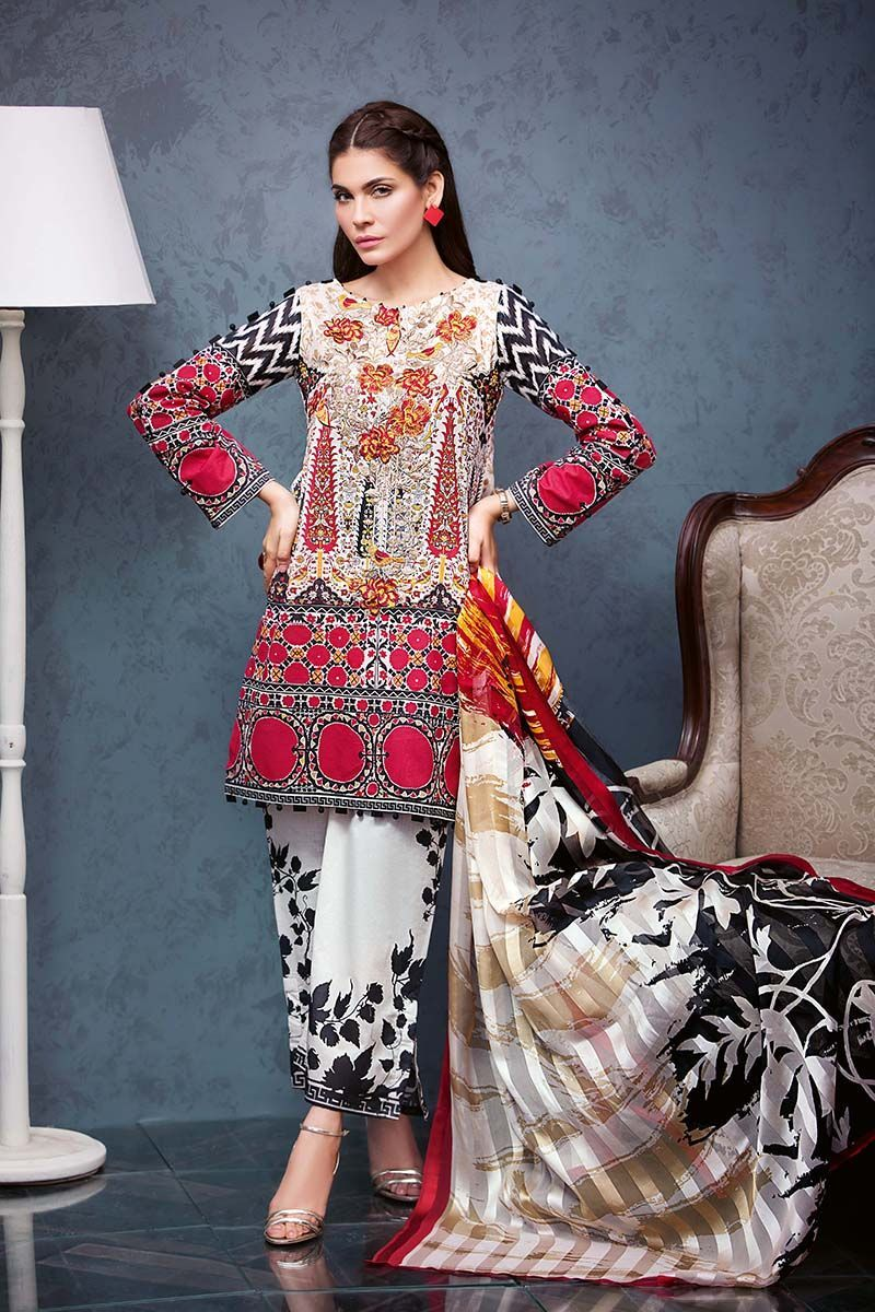 463648656a Gul Ahmed Summer Embroidered Lawn Dresses Collection 2019 | Desi ...