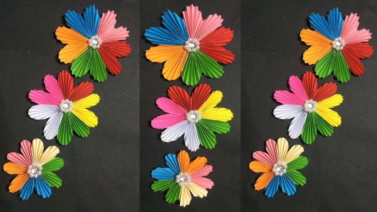 How to make easy paper flower making paper flowers step by step how to make easy paper flower making paper flowers step by step diy mightylinksfo