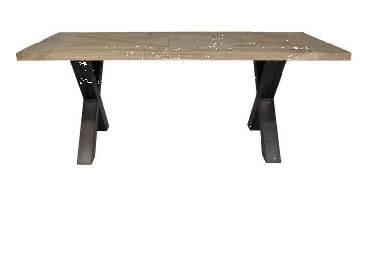 Eiken mozaiek tafelblad tafel tafelblad stel en