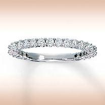 14K White Gold 3/4 Carat t.w. Diamond Ring for Her