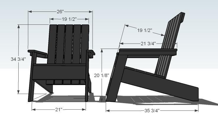 designer adirondack chairs diy modern adirondack chair. Black Bedroom Furniture Sets. Home Design Ideas