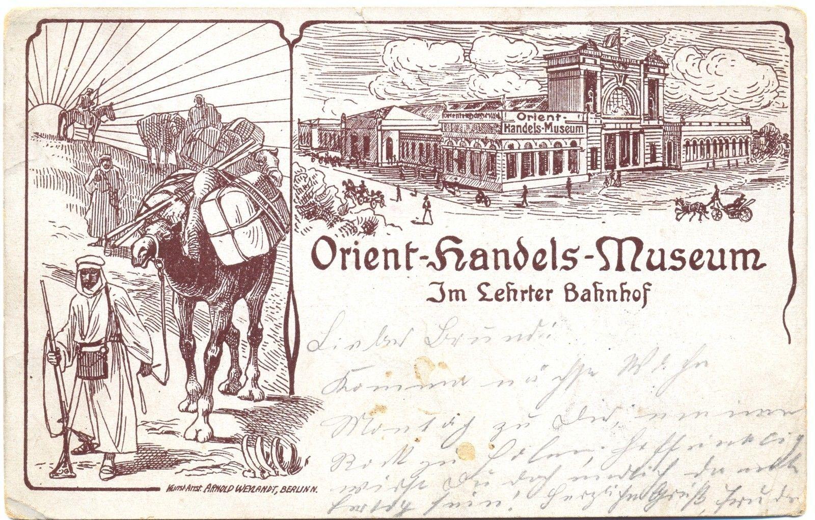 Berlin Lehrter Bahnhof Orient Handels Museum 1904 eBay