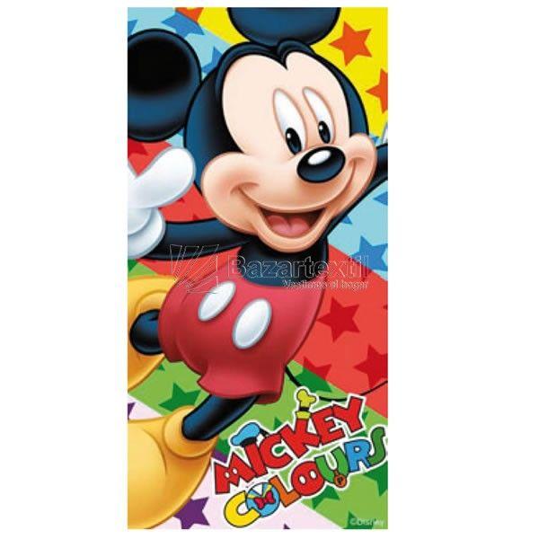 Toalla de Playa Mickey Mouse Estrellas - Bazartextil.com