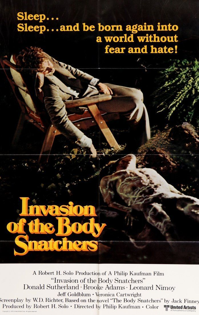 INVASION of the BODY SNATCHERS movie POSTER donald SUTHERLAND 24X36 terror