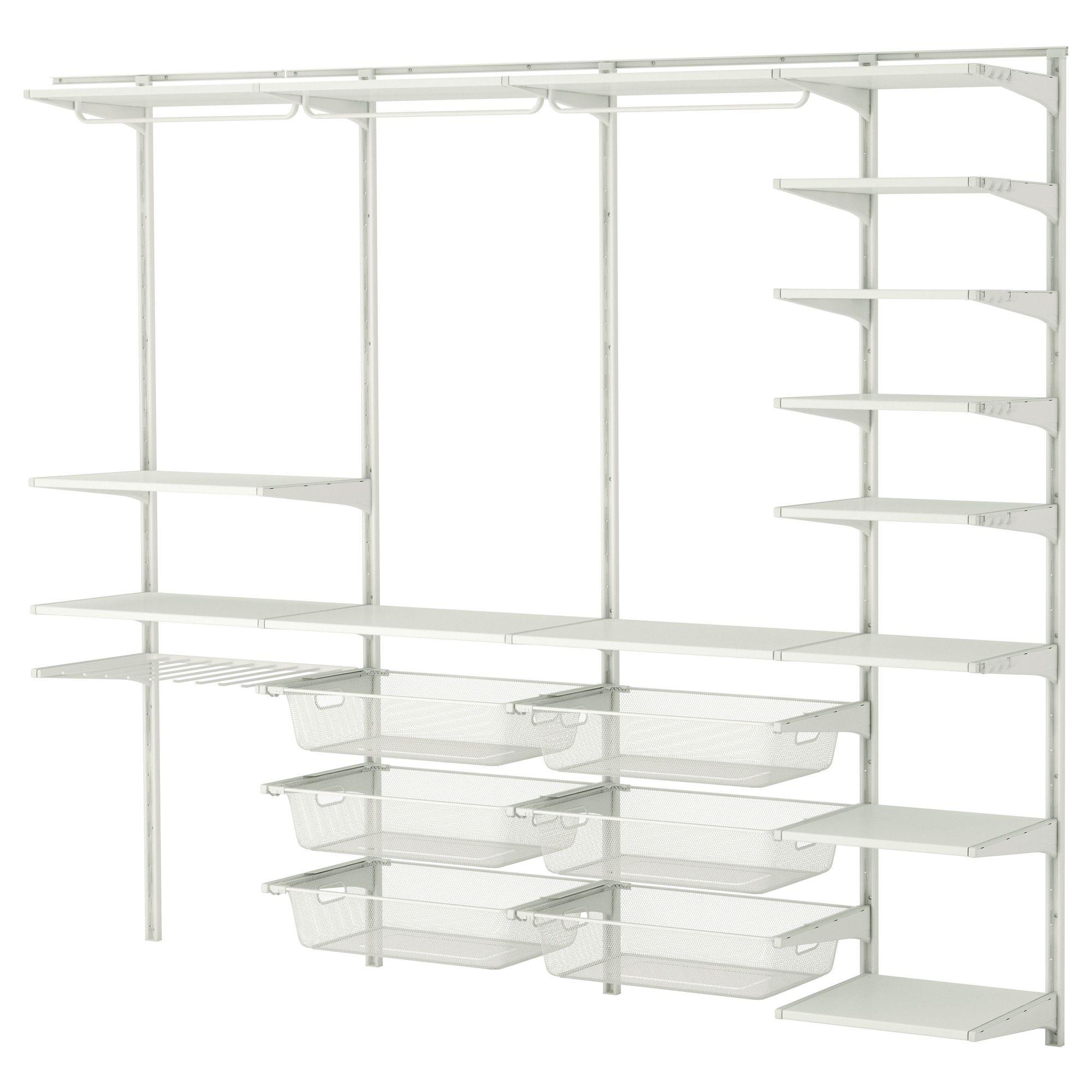 ALGOT Wandschiene/Böden/Stange - IKEA | Kleiderschrank | Pinterest ...