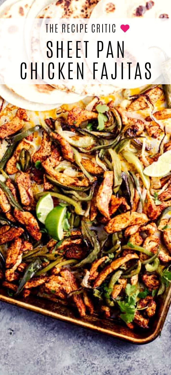 Photo of Sheet Pan Salsa Verde Chicken Fajitas | The Recipe Critic