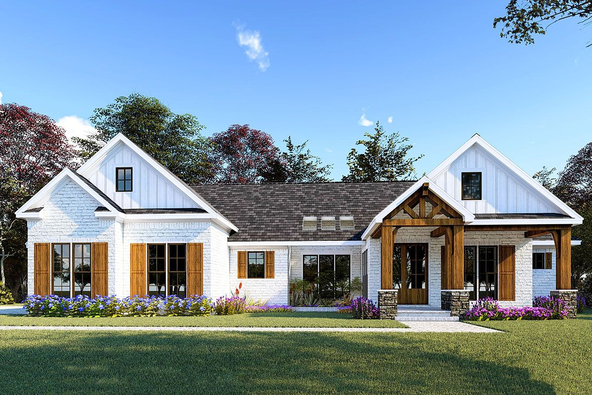 Plan 70657mk Country Craftsman House Plan With Bonus Room Above
