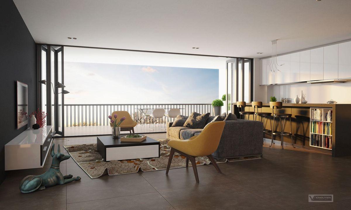 23 Open Concept Apartment Interiors For Inspiration | Open concept ...