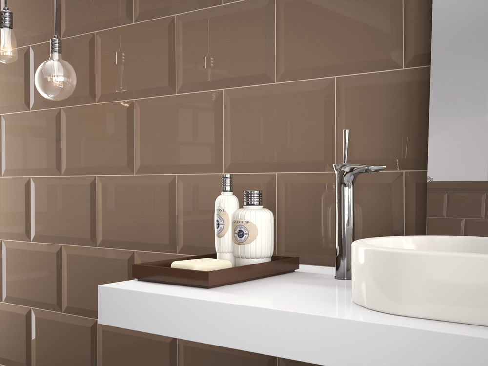 Pin by discount glass tile store on marazzi oxford beveled wall tile series badezimmer - Piastrelle diamantate bagno ...